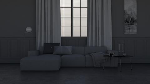 Grey - Minimal - Living room  - by HenkRetro1960
