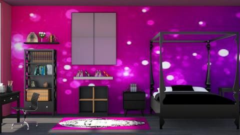 Pink n Purple - Bedroom  - by Vae Riley