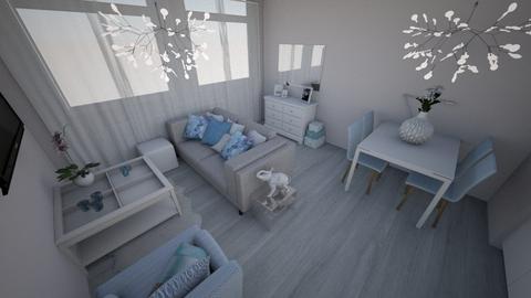 Van de Spiegelstraat 3 - Living room  - by Koalemily