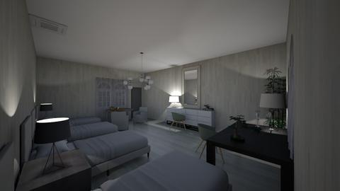 bed room for four - Classic - Bedroom  - by alexa0921