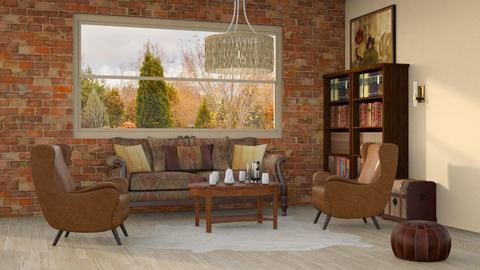 r u s t i c - Rustic - Living room  - by Oyisha