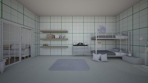 Queen Green - Modern - Bedroom  - by matildabeast