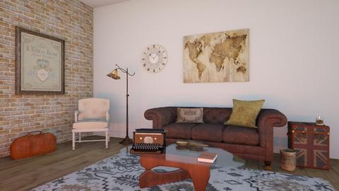 Travel Themed Living Room - Living room  - by Sadieeeeeeee