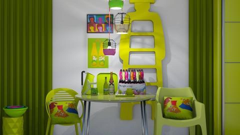 Neon Brunch - Retro - Dining room  - by XiraFizade