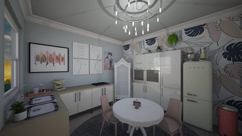 Small Pastel Kitchen - Feminine - Kitchen  - by Jodie Scalf