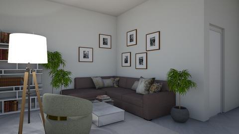 white room - Minimal - Living room  - by monek299