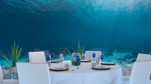 Under Water Dining Room - Modern - Dining room  - by malithu damsath