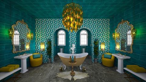 Salle de bain turquoise - Bathroom - by Jess52