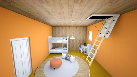 peach kids room - Kids room - by malakabaza