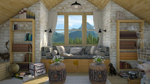 Design 297 Attic Nook - Living room  - by Daisy320