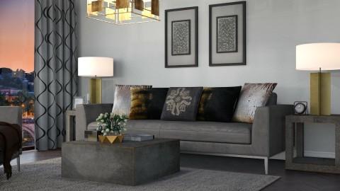Metallic - Living room  - by meggle