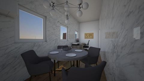 Office and dining room - Modern - Kitchen  - by Lorenzo Finazzi