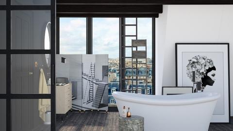 Attic Bathroom - Minimal - Bathroom  - by HenkRetro1960