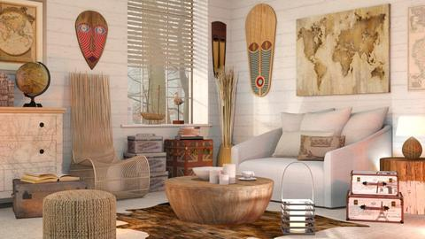 Travel Themed Living Room - Vintage - Living room  - by Sally Simpson