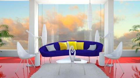 white and primary - Modern - Living room  - by russ