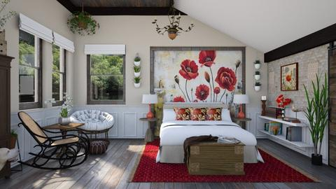 Design 468 Poppies in the Loft - Bedroom  - by Daisy320