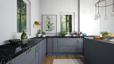 Blue Olive Trees - Modern - Kitchen  - by Annabeth_Chase7