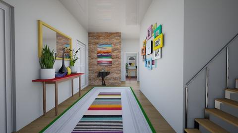 Modern Playfull Hallway - by dianasyafira