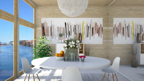 DiningRooomARTWALL - Modern - Living room  - by Mihailovikj Mimi