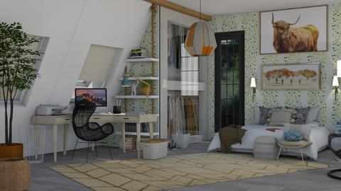 Attic natural - Modern - Bedroom  - by vxckzz
