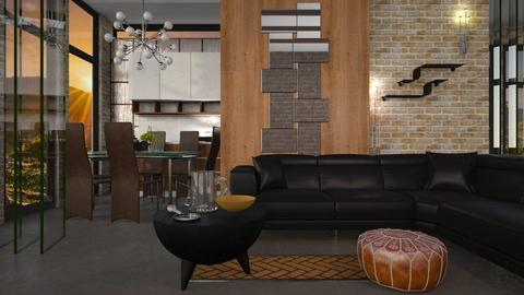 Glass Brick - Modern - Living room  - by Gurns