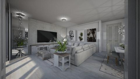 Branco - Living room  - by Maria Helena_215