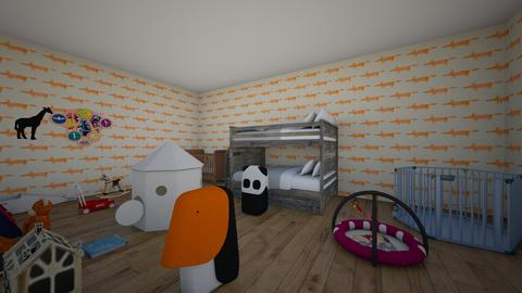 Kid room - Retro - Kids room  - by CurrieT