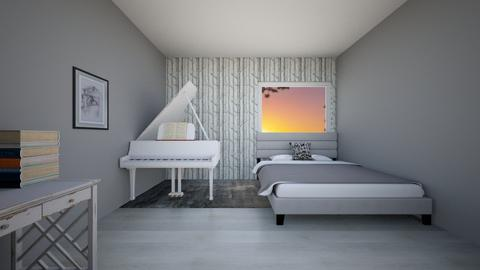 Student Room - Bedroom  - by Agamanta