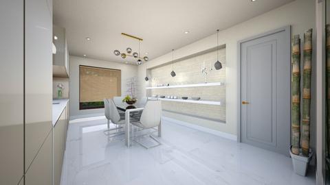 light crem kitchen - Glamour - Kitchen  - by Bianca Interior Design