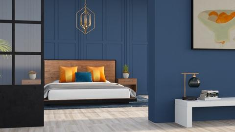 Blue and Orange - Eclectic - Bedroom  - by YourSisterTho