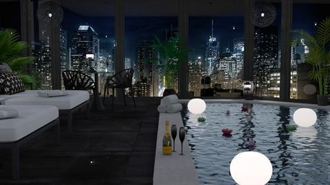 Hotel Pool Luxury - by sarah4368