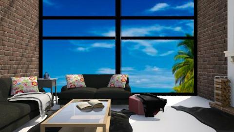 Black - Living room - by LucijaLjeva