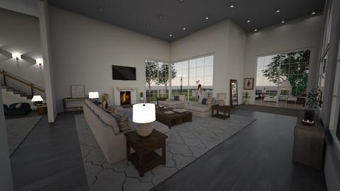 The Beach House - Living room  - by jarellano89