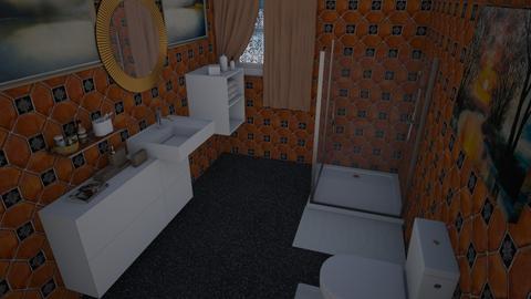 Claret Guest Bath - Modern - Bathroom  - by alonatech_2nd