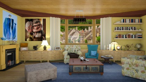 Carl y Ellie Fredricksen - Vintage - Living room  - by deleted_1524667005_Elena68