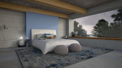 Stormy Bedroom - Bedroom  - by chocolatedonut71