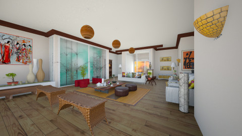 Asian Inspired - Living room - by Michka Martina