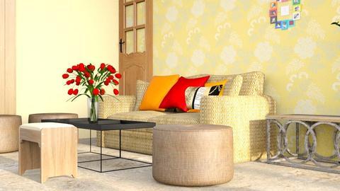 Darshan New 1 - Rustic - Living room  - by jiltsheth