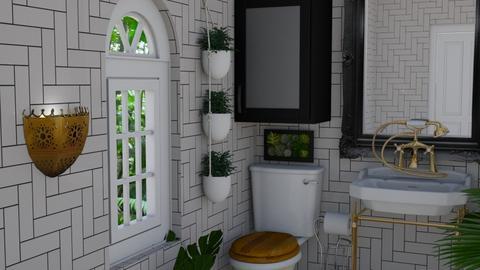 Urban Jungle Bathroom - Bathroom  - by laurenpoisner