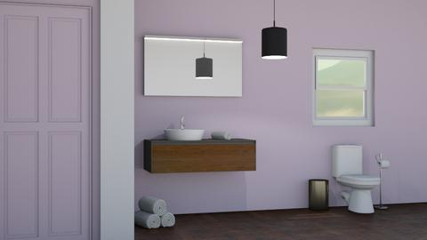 Lavender Restroom 2 - Modern - Bathroom  - by designkitty31