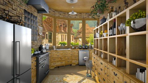 Design 56 Galley Kitchen in Oak - Kitchen  - by Daisy320