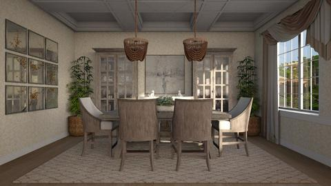 Modern Farmhouse - Modern - Dining room  - by Claudia Correia