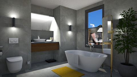 Simple Modern Grey - Modern - Bathroom  - by 3rdfloor