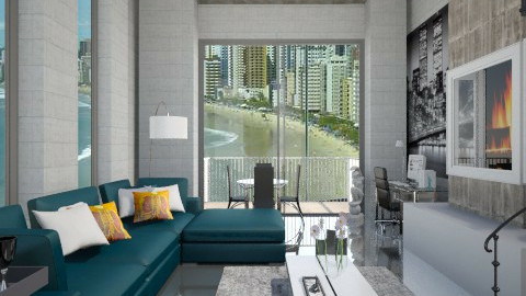 Concreto - Living room  - by Roberta Coelho