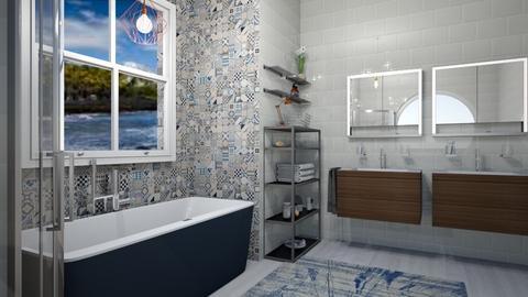Nautical Bathroom - Modern - Bathroom - by XqveenXlove