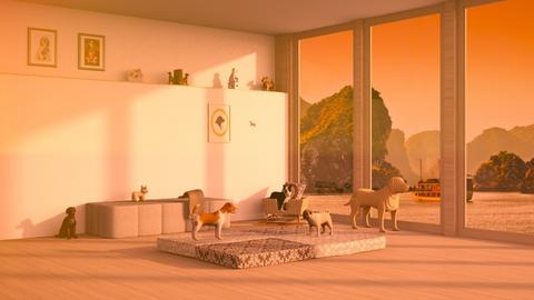 Puppy_Love_ - Living room  - by Nantha