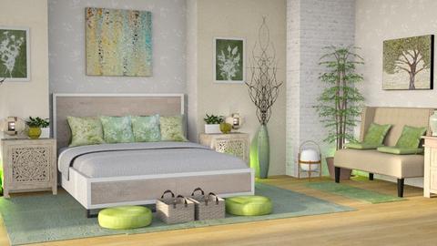 sage green relax bedroom - Bedroom  - by Moonpearl