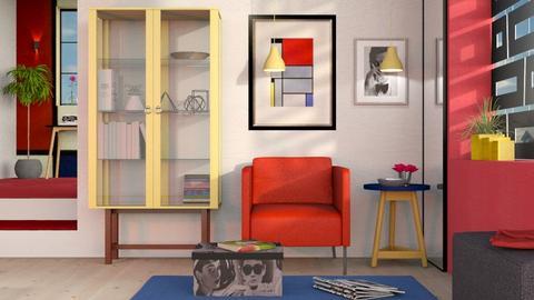 Piet Mondrian Inspired - Modern - Living room  - by Sally Simpson