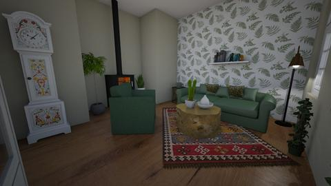 green living room - Living room  - by kbrown1108