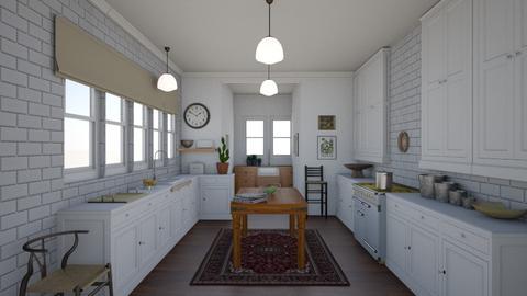 Random Spaces - L.A. Cottage Kitchen - Vintage - Kitchen  - by LizyD
